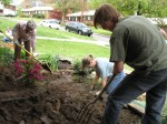 The new Friendship Garden being established to celebrate Aiden's life was planted April 23. 2011